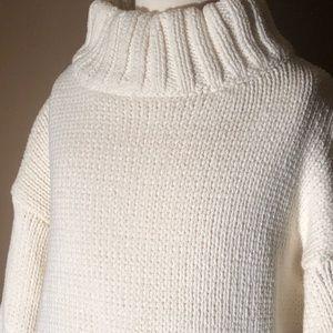 Honey Punch white turtleneck sweater
